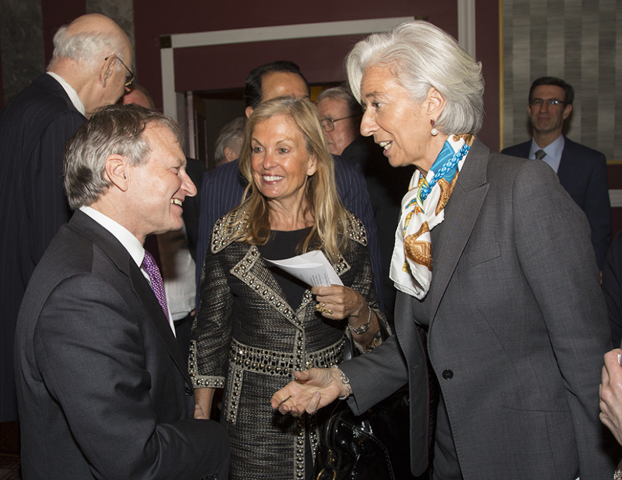 Jane Hartley en compagnie de Christine Lagarde