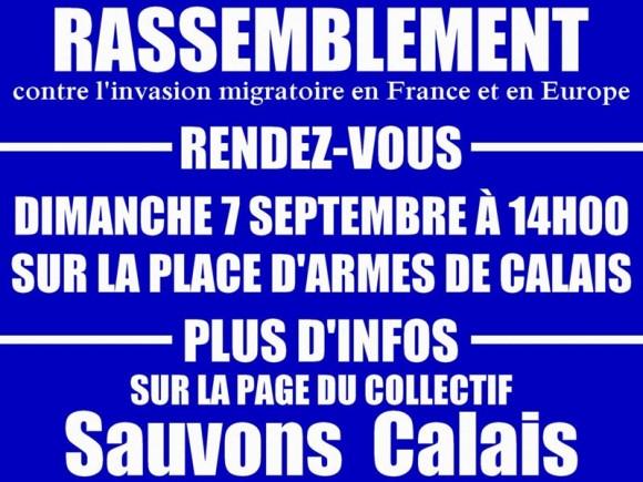 Contre l'invasion: tous à Calais le 7 septembre