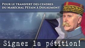 Transfert des cendres du Maréchal Philippe Pétain à Douaumont.