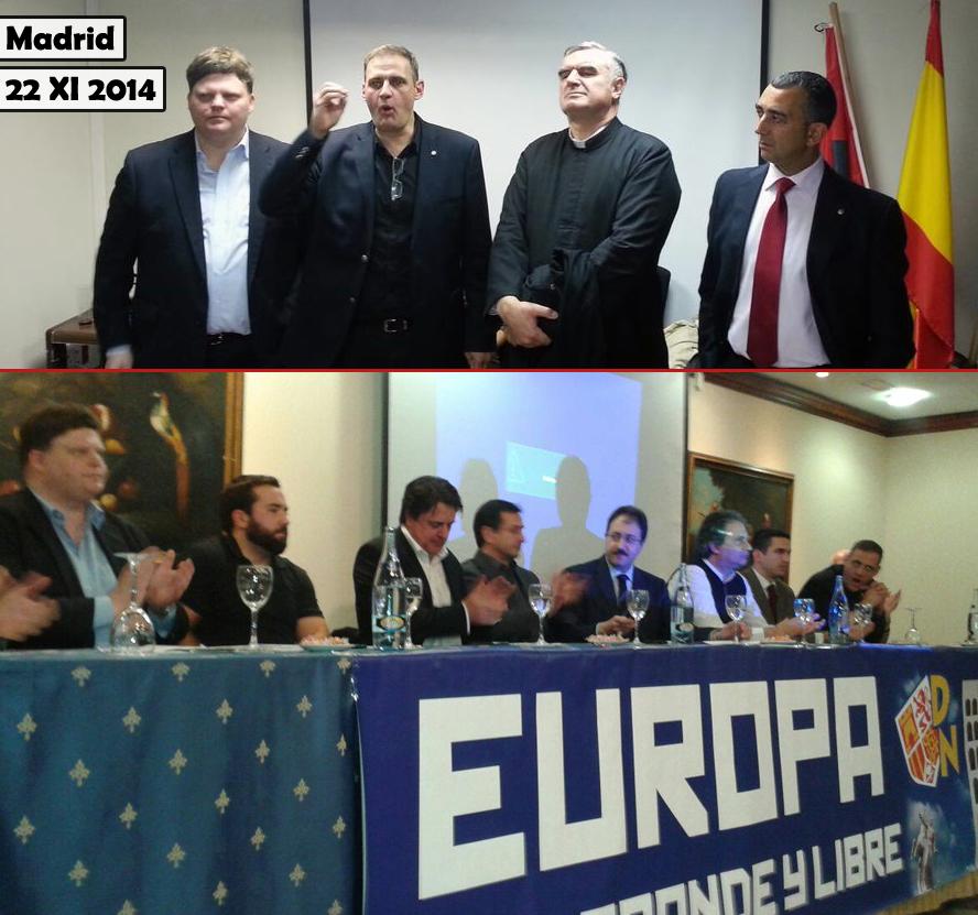 Congrès européens des nationalistes à Madrid ce samedi et hommage à José Antonio Primo de Rivera