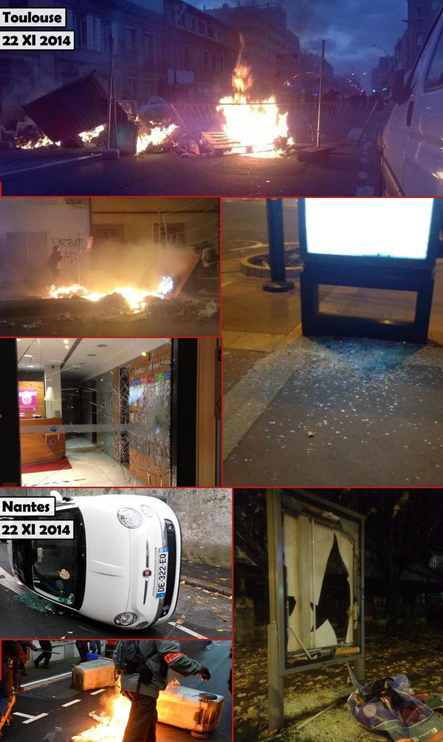 Les casseurs à nouveau en action à Nantes et Toulouse mais aussi Bordeaux et Lille