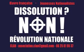 Dissolution ? Non !