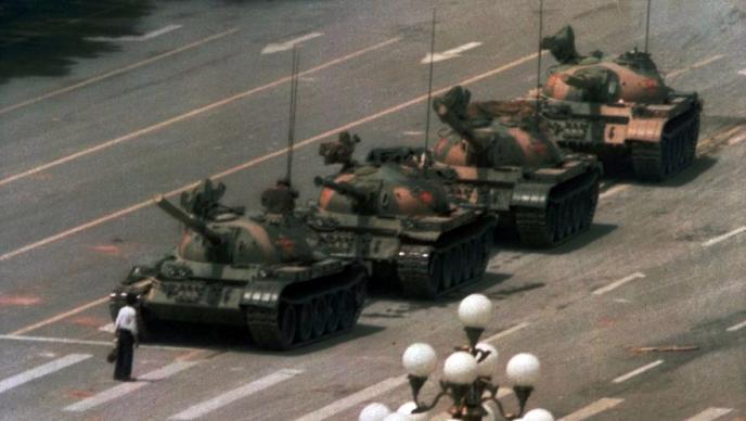 Tienanmen 1989-l'homme face aux chars