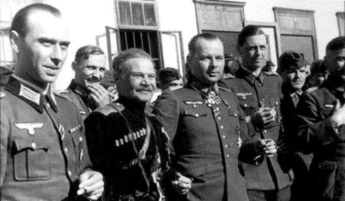 généraux cosaques Andrei Shkuro et Helmut v
