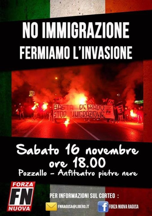 Forza nuova contre l'immigration à Pozzalo-2