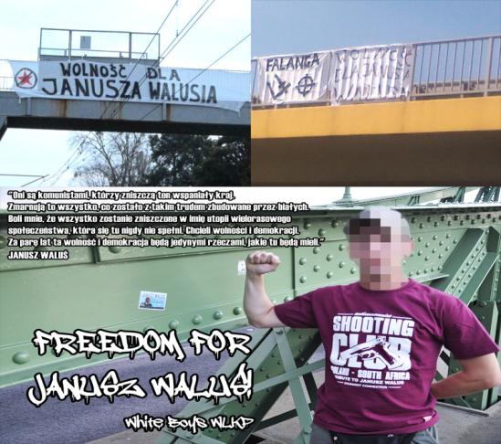 Action de soutien pour Janusz en Pologne