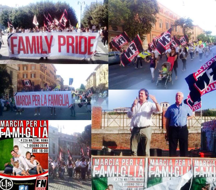 Forza Nuova défend la famille à Rome