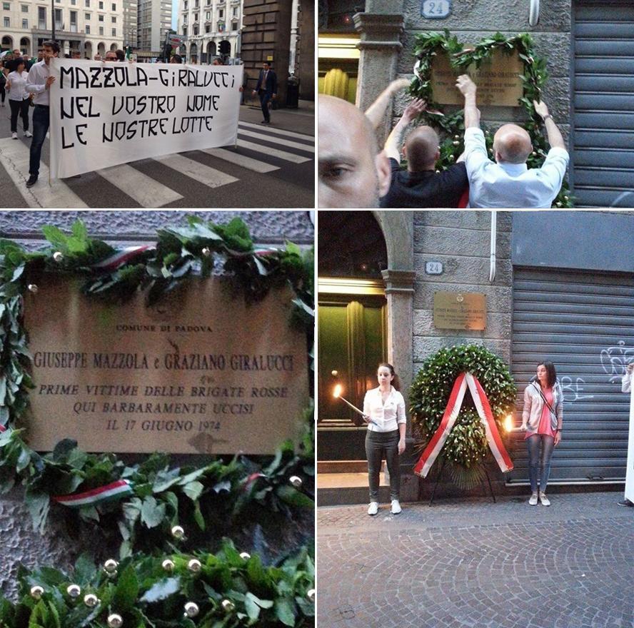 hommage-forza-nuova-padoue-Giuseppe Mazzola-Graziano Giralucci (B)