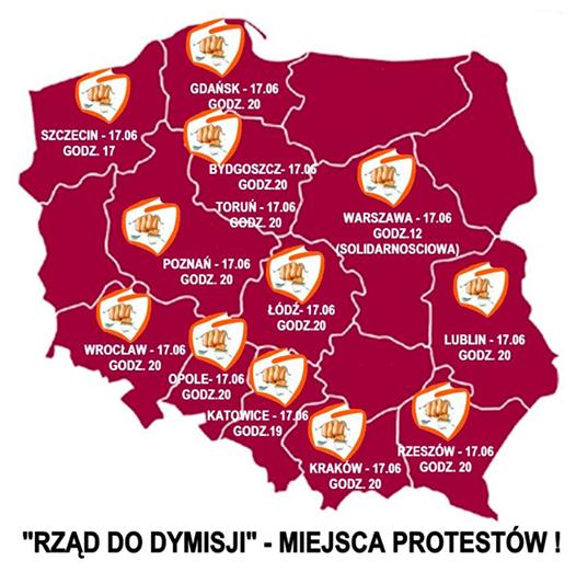[Carte : rassemblements antigouvernementaux du 17 juin 2014]