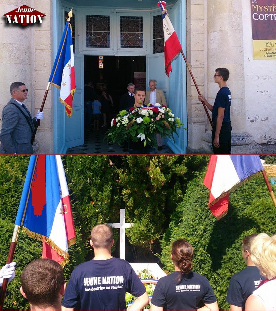 Hommage des nationalistes français au maréchal Pétain en juillet 2014.