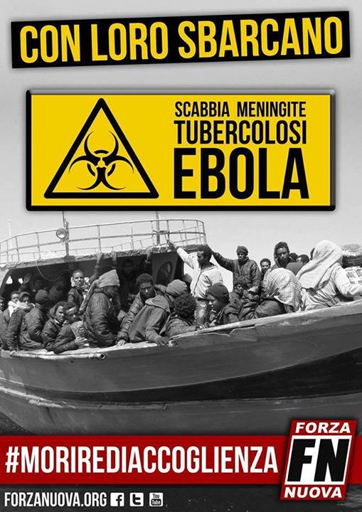 Visuel de propagande du mouvement nationaliste italien Forza Nuova.