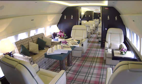 L'intérieur d'un Boeing 737-700.