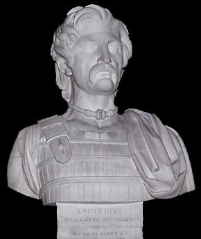 Buste de Luctère, par Dominique Molchneht, 1844.