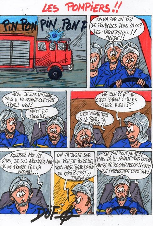 L'instant Dufo : Les pompiers