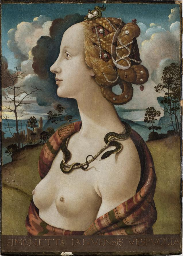 Piero di Cosimo, Portrait de Simonetta Vespucci.