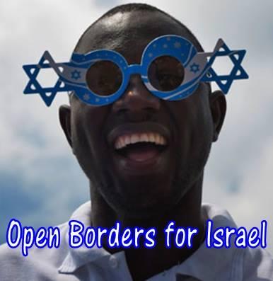 Open Borders for Israël [Ouvrir les frontières d'Israël], un groupe qui agit pour qu'Israël goûte aux bienfaits de la diversité et de l'ouverture et de l'immigration et du métissage.