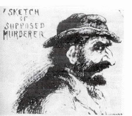 Un portrait robot diffusé par la presse anglaise du possible meurtrier de Whitechapel (septembre 1888)
