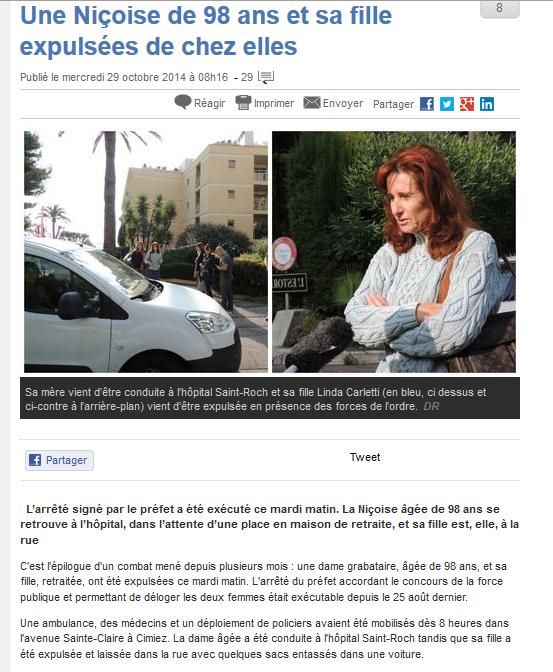Une Européenne de 98 ans et sa fille expulsée à Nice