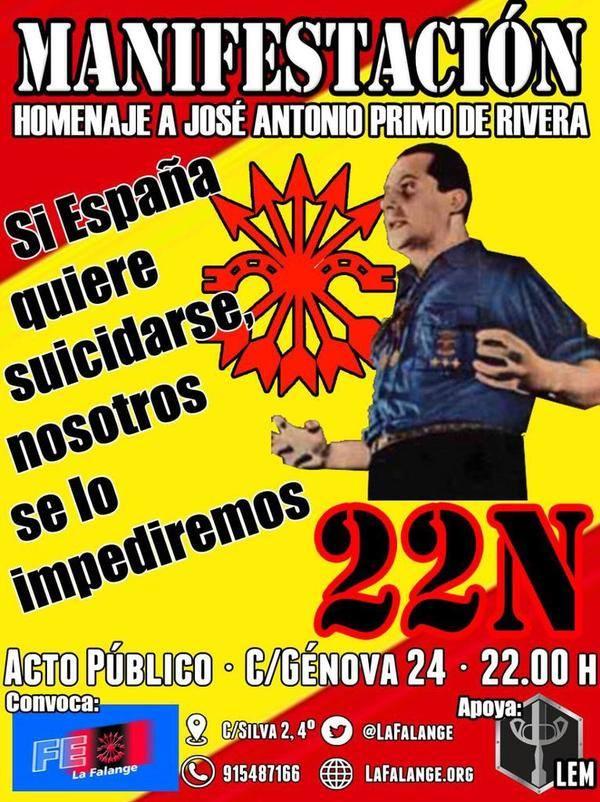 Manifestation d'hommage à José-Antonio Primo de Rivera