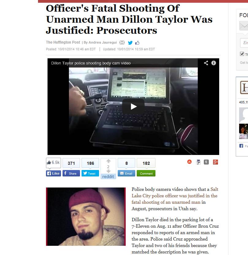 Dillon Taylor, lui, avait 20 ans. Il ne venait pas d'agresser violemment un commerçant pour le voler avant d'attaquer un policier. Il était Blanc. Il n'aura pas le soutien des racistes antiblancs de Jérusalem à Moscou en passant par Washington et Paris.