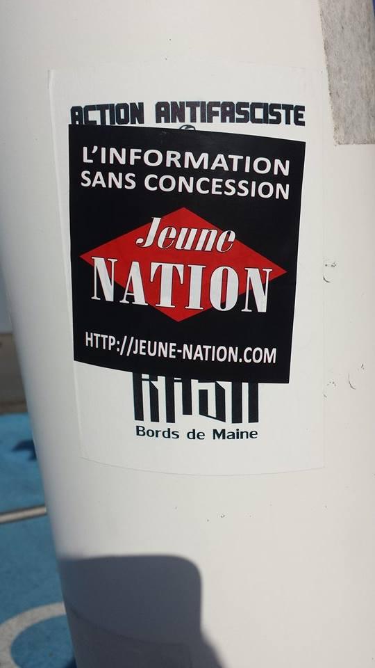 Jeune nation ? Si pasaran ! Merci à tous les militants qui de Brest à Nice, de Toulouse à l'Alsace font la promotion de JN.