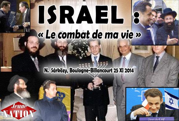 Nicolas Sárközy : Israël «c'est le combat de ma vie»