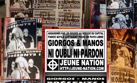 Hommage des nationalistes français à Giorgos & Manos