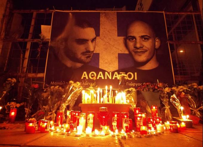 L'hommage des nationalistes grecs à leurs camarades.