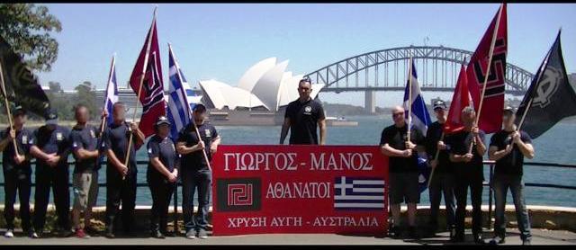 Depuis l'Australie, des expatriés grecs se sont réunis en mémoire de deux héros.
