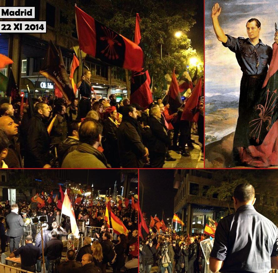 Marche en l'honneur de José Antonio à Madrid, 22 novembre 2014. Photos : Patriotas.es