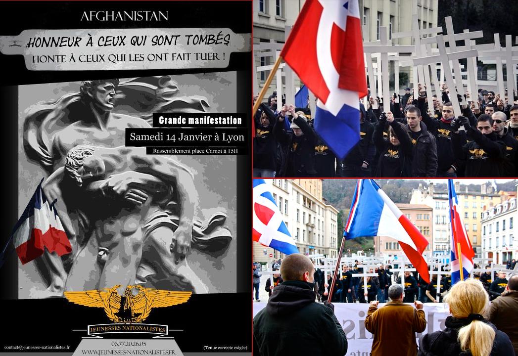 Le premier rassemblement des Jeunesses nationalistes, en hommage aux soldats français morts en Afghanistan