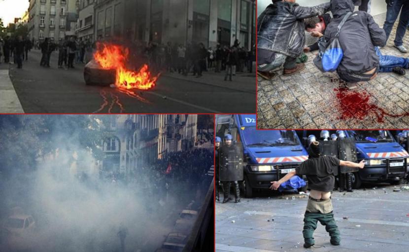 Nouvelles émeutes de l'extrême gauche à Nantes, Dijon, Toulouse