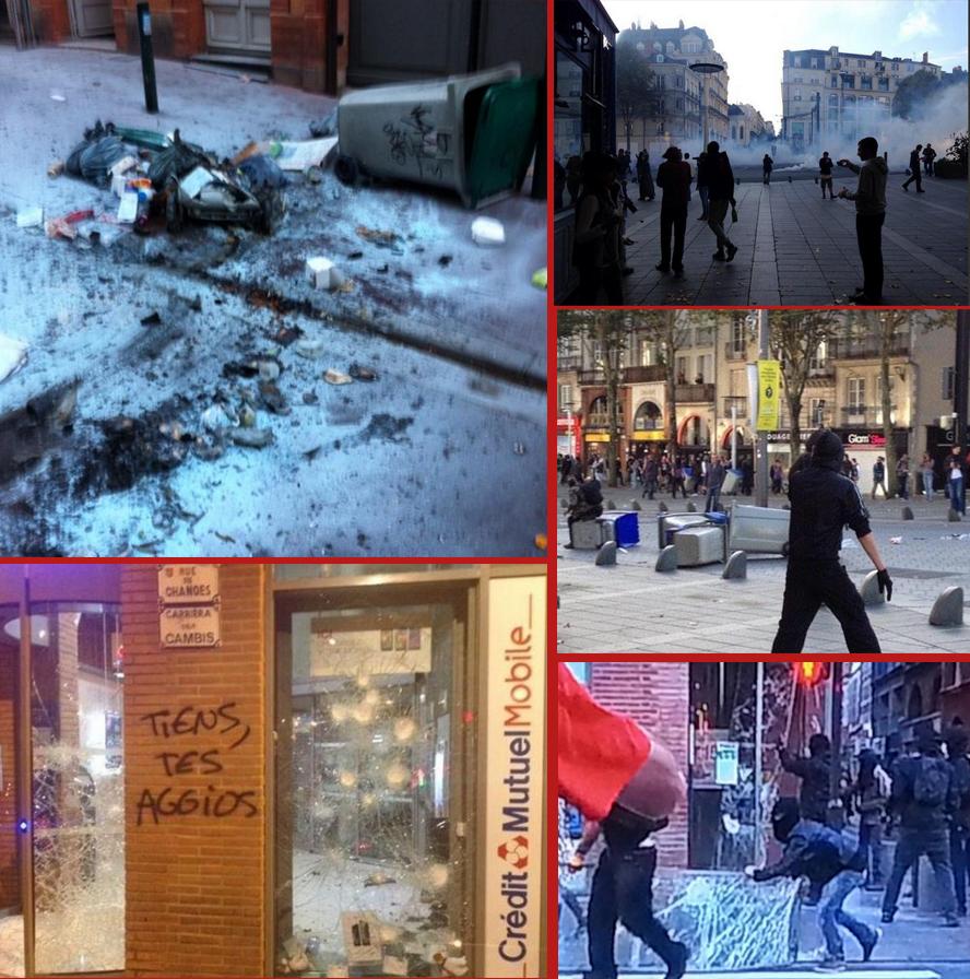 Émeutes à Toulouse le 1er novembre 2014.