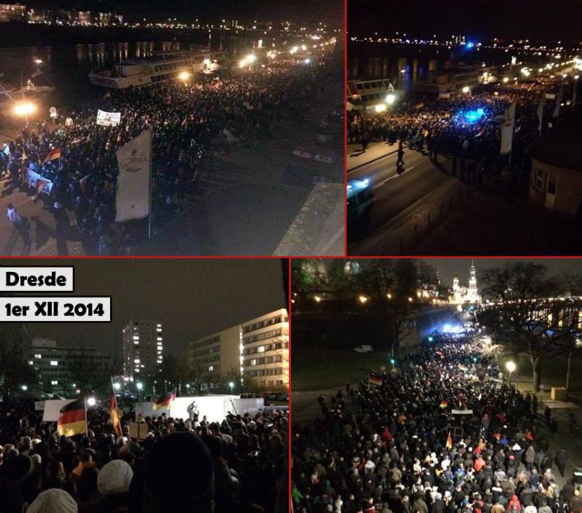 Plusieurs milliers d'Allemands dans les rues de Dresde contre l'islamisation