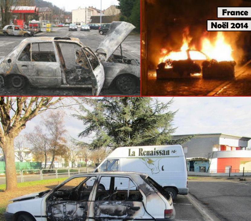 Avant la nuit de la Saint-Sylvestre, les colons multiplient déjà les incendies de voitures