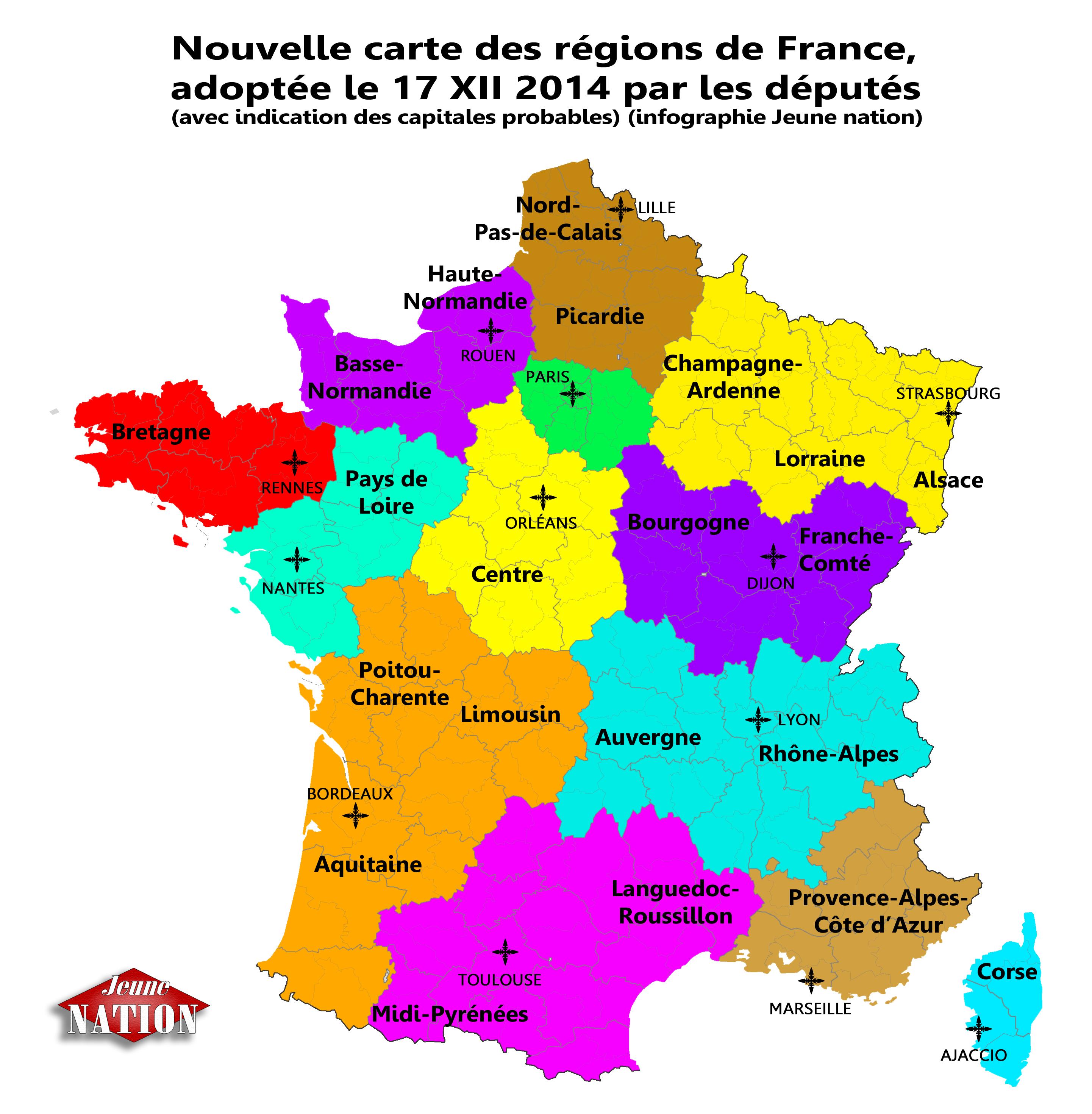 Réforme territoriale : les députés valident définitivement une carte à treize régions   Jeune Nation