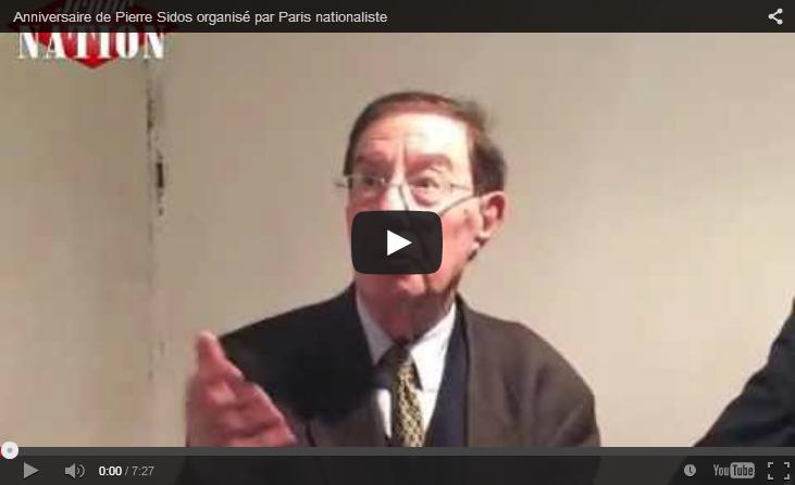 Anniversaire de Pierre Sidos et galette des Rois de Paris nationaliste