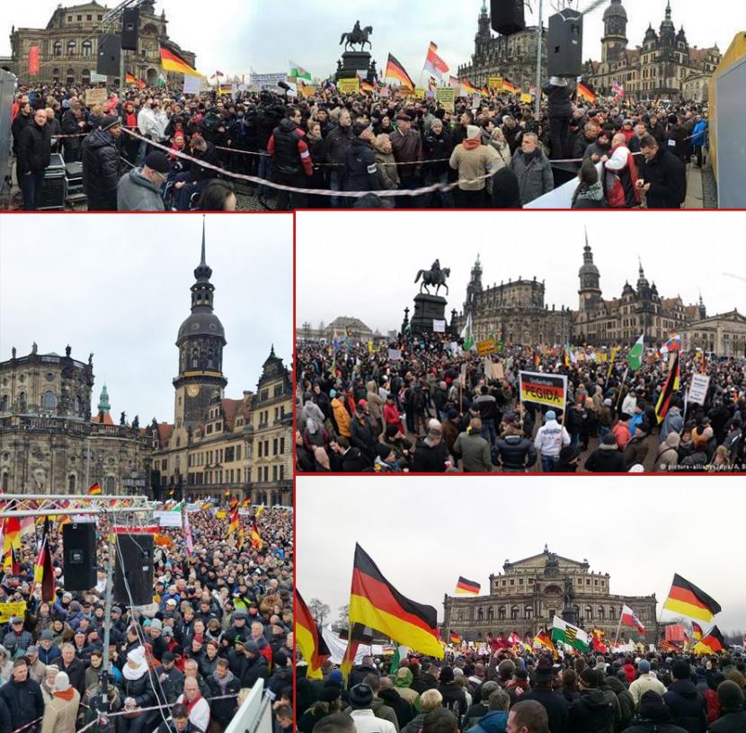Au moins 17 000 manifestants contre l'islamisation dimanche à Dresde