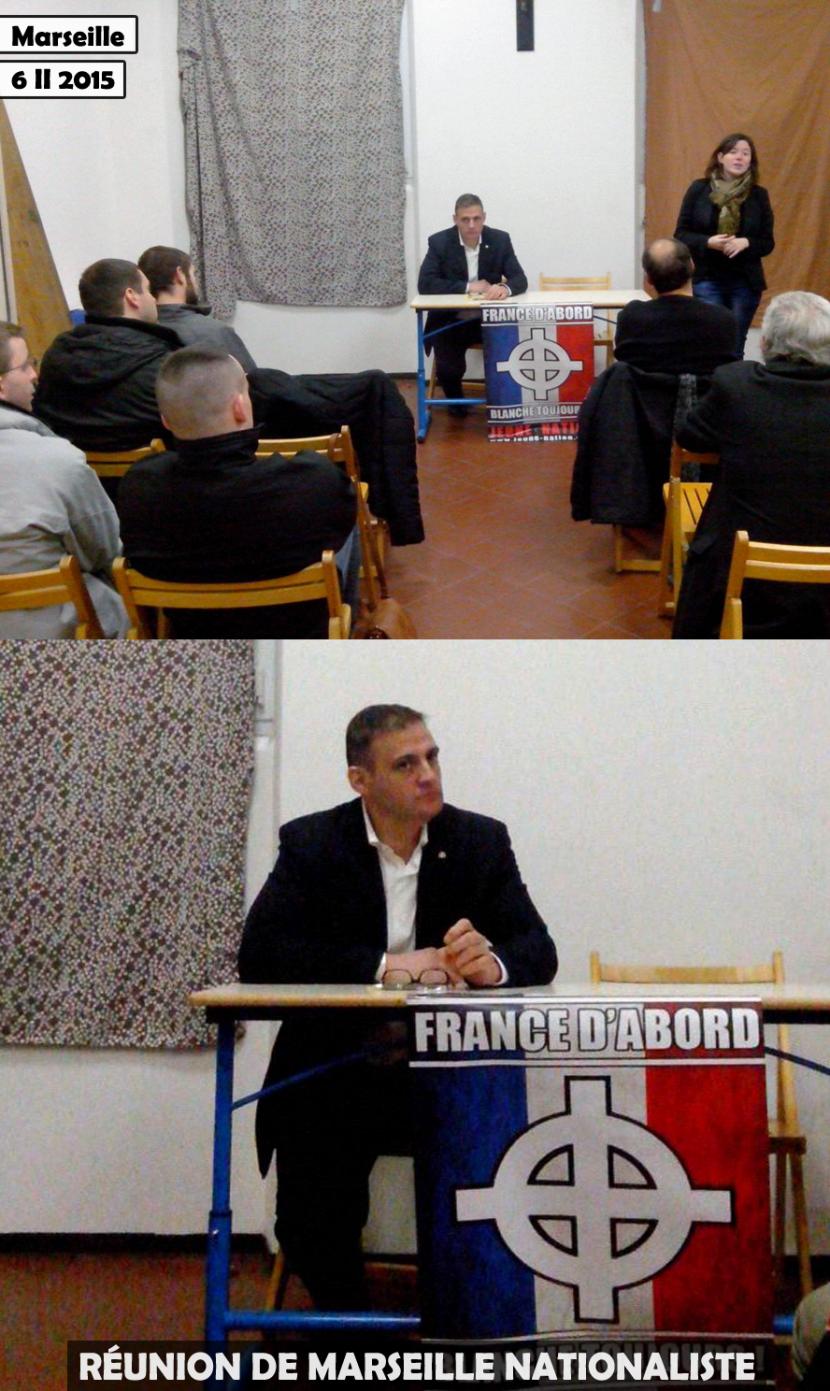 Réunion de Marseille nationaliste avec Yvan Benedetti et Laura Lussaud pour le 6 février