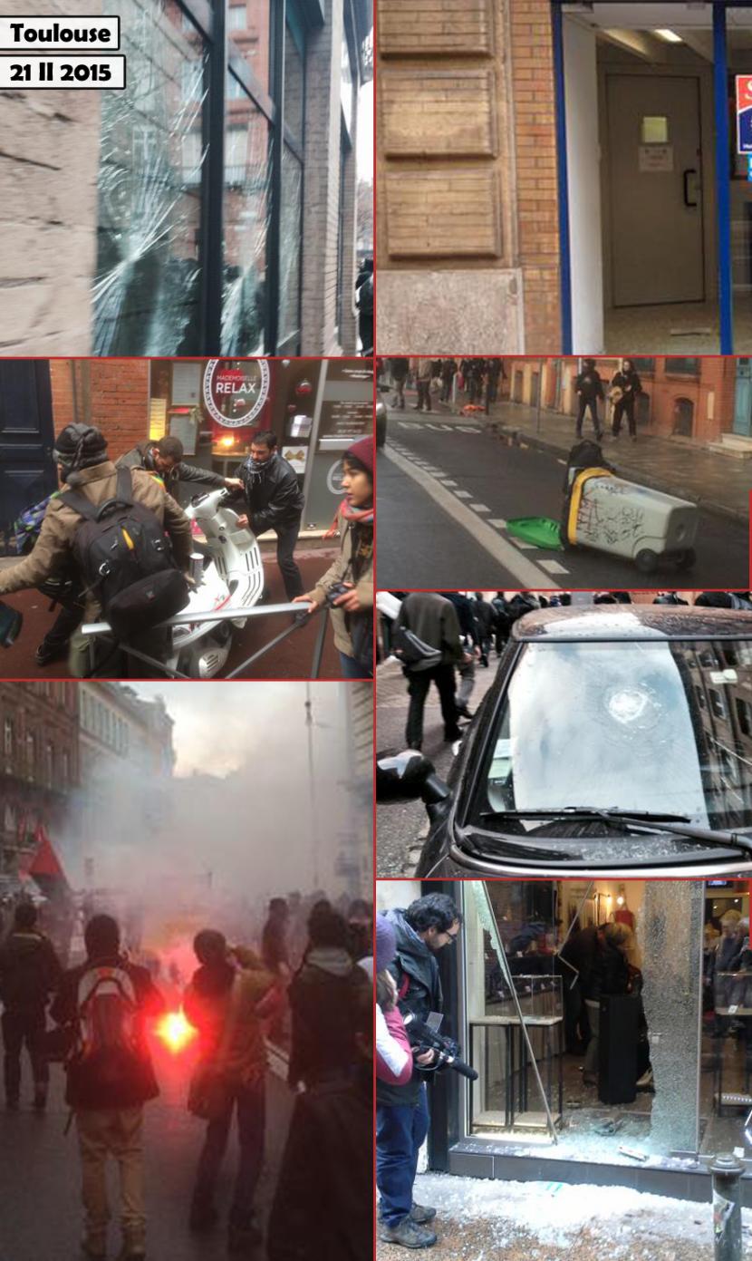 Très légères peines pour les casseurs d'extrême gauche à Toulouse et Nantes, y compris les récidivistes