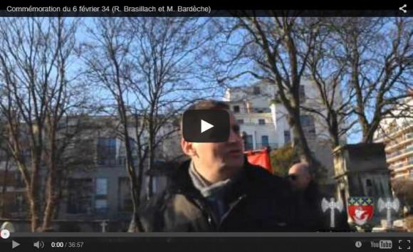 Hommage aux morts du 6 février 34 – Robert Brasillach et Maurice Bardèche, présents !