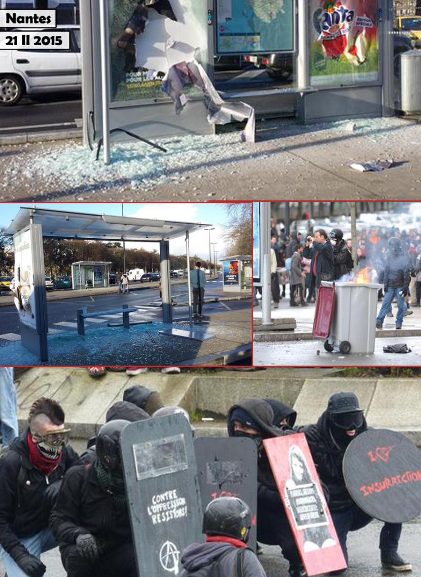 Nouvelle journée d'émeute de l'extrême gauche à Nantes et Toulouse