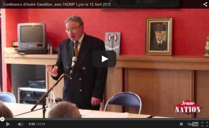 Conférence d'André Gandillon, avec l'ADMP Lyon le 12 Avril 2015