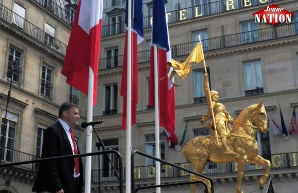 Intervention d'Yvan Benedetti lors de l'hommage à Jeanne d'Arc