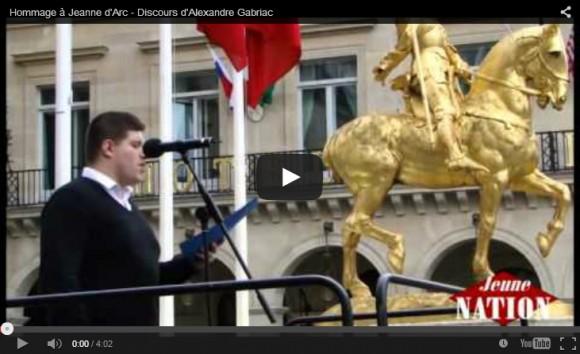 Discours d'Alexandre Gabriac lors de l'hommage à Jeanne d'Arc 2015