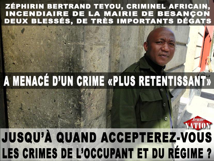 Besançon: le criminel camerounais menace de nouvelles attaques au tribunal!