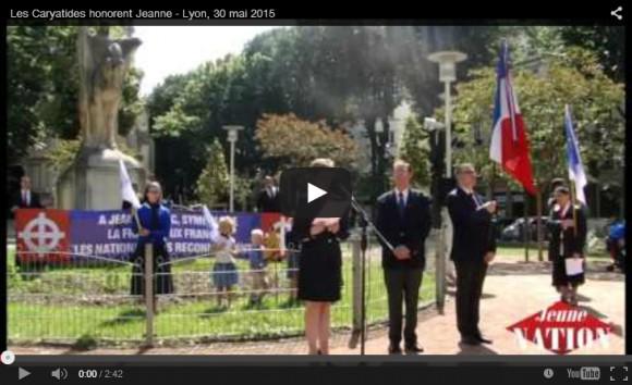 Les Caryatides honorent Jeanne – Lyon, 30 mai 2015