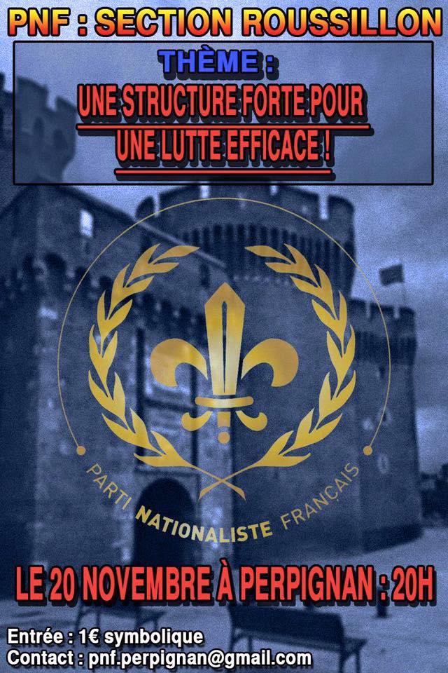 Perpignan : Conférence «Une structure forte, pour une lutte efficace !»