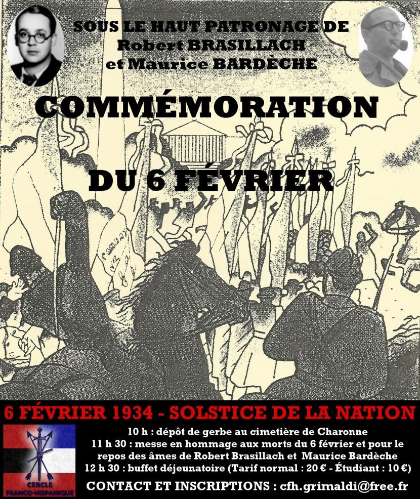 Paris : Commémoration des morts du 6 février