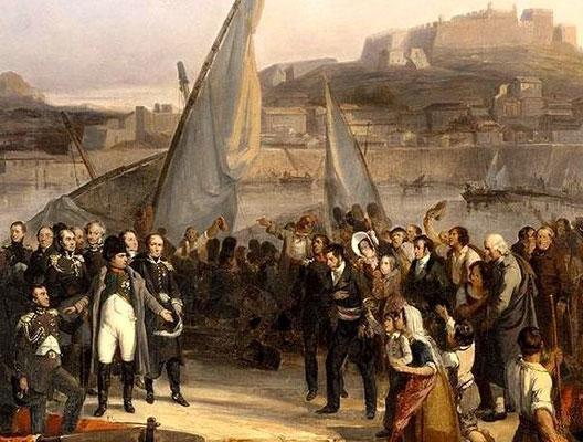 1er mars 1815 : L'Empereur débarque au Golfe Juan